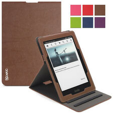 Poetic Sophistication PU Leather Flip Cover Case for Amazon Kindle Voyage Brown