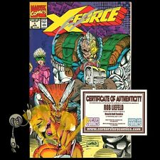 X-FORCE #1 Signed by ROB LIEFLED 1st Print MARVEL Comics 1991 VF!