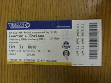 29/01/2011 Ticket: Everton v Chelsea [FA Cup] (Creased, Folded). Thanks for view