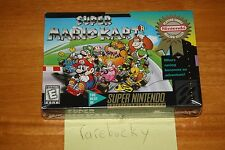 Super Mario Kart (SNES Super Nintendo) NEW SEALED V-SEAM NEAR-MINT, RARE!