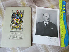 PRUDENTIAL Assurance Co 1930 Original Annual DINNER Programme inc Map & Picture