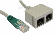 Cat 5e Ethernet Splitter DV Economiser Data Voice Network RJ-ECON
