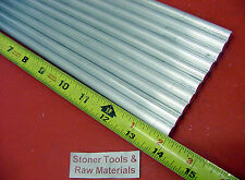 "10 Pieces 3/8"" ALUMINUM 6061 ROUND ROD 14"" long T6511 .375 Solid Lathe Bar Stock"