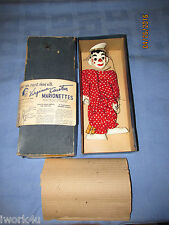 VINTAGE VIRGINIA AUSTIN CURTIS CLIPPO CLUB CLOWN PUPPET MARIONETTE with Box