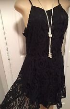 WOMENS PLUS DRESS 1X NEW BLACK LACE SHORT XL 14 16 CUTE NWT SPRING PARTY DEAL