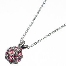 4.0 Ct Round Cut Style Shape Pink Sapphire 18K White Gold Plated Pendant