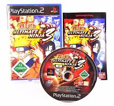 PS2 Naruto: Ultimate Ninja 3 (Sony PlayStation 2, 2008) Anleitung & OVP