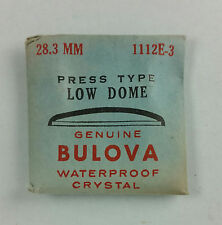 VINTAGE BULOVA PRESS TYPE LOW DOME WATCH CRYSTAL - 28.3mm - PART# 1112E-3