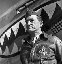 WWII B&W Photo Gen. Claire Chennault Flying Tigers CBI  WW2  / 1257  NEW