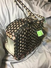 Vera Bradley Retired Classic Black Airline Pet Travel Carrier For Cats Or Dogs