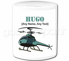 Personalised Gift Pilot Military Army Aircraft Airplane Helicopter Money Box