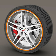 Orange Rimblades Alloy Wheel Edge Ring Rim Protectors Tyres Tire Guard Rubber