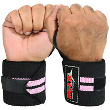 WEIGHTLIFTING TRAINING FITNESS WRIST SUPPORT COTTON WRAPS BANDAGE STRAP PINK 18""