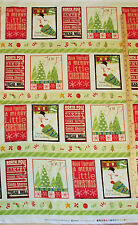 "Santa's on His Way North Pole Bakery Clothworks Christmas Fabric Panel 23"" Y1678"