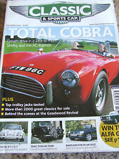 CLASSIC AND SPORTSCAR MAGAZINE NOV 2004 TOTAL COBRA TOP TROLLEY JACKS PORSCHE TR
