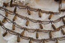 1y ANTIQUE METALLIC BOBBLE BEAD TASSEL PASSEMENTERIE VINTAGE LACE FRENCH TRIM