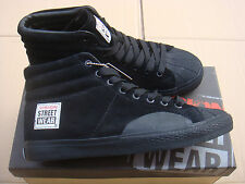 new SKATEBOARD BLACK vision street wear LEATHER HI trainers UK size 10