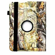 For iPad AIR Hunting Camo oak tree branch Rotating smart CASE COVER STAND