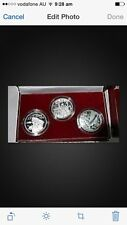 1999 china 50th birthday 3pc silver coin