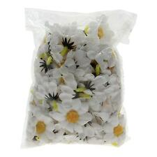 Artificial White Sunflower Flower Heads Silk Fake Flower For Hair Clips Headband
