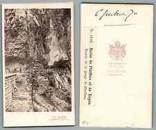 Braun, grotte de Pfaeffers vintage carte de visite, CDV, provenance album person
