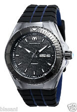 Technomarine TM-115183 Locker/Cruise Men's Black/Blue Silicone 45mm Chronograph