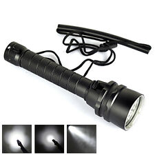 Underwater 9000Lm Scuba Diving 5x XM-L L2 LED Flashlight Torch Waterproof Light