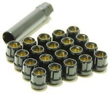 Wheel Mate Muteki Open End Lug Nuts  In Black 12x1.25 set of 20 w/ Key | 31885B