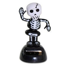 Halloween 1 Skeleton Solar Powered Bobble Head Toy US Seller