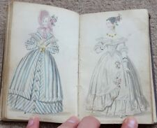 VICTORIAN LADIES POCKET MAGAZINE, COL' FASHION PLATES & B & W ENGRAVINGS, c1840