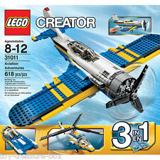 "LEGO CREATOR 31011 ""3 in 1"" Aviation Adventures - 618 pc set - Ages 8 - 12 yrs"