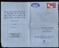 HONG KONG 1968 HUMAN RIGHTS 50c on AIR LETTER to USA