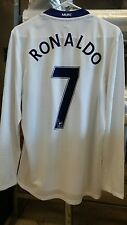 NWT Authentic Nike 2008 Manchester United Player Issue Ronaldo L/S Jersey L