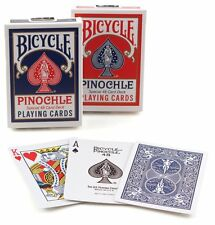 1 Deck Bicycle Rider Back Standard Pinochle Playing Cards Red or  Blue New Box