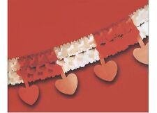 Guirlande rouge et blanche avec coeur rouge Mariage Cérémonie Saint Valentin