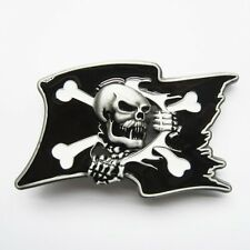 Boucle Ceinture Biker tete de mort drapeau pirate motorcycles