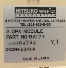 NEC - Nitsuko - Tie - 124i 384i 704i  PN- 92177 2 OPX Module DX2NA 2OPX-A