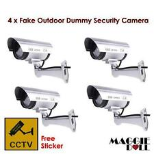 4x Fake Outdoor Dummy DOME LED security CCTV camera surveillance flashing light
