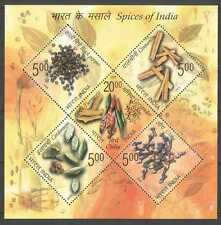 India 2009 Spices/Plants/Nature/Food 5v m/s (n27061)