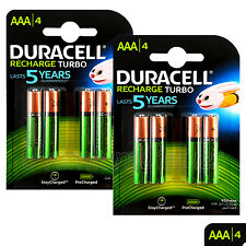 8 x Duracell Rechargeable AAA batteries 850 mAh NiMH LR03 HR03 ACCU DX2400 phone