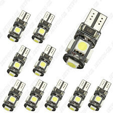 10x Xenon White LED Error Free Canbus 5SMD Side Wedge Light Bulb T10 194 168 W5W