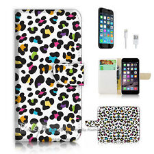 iPhone 7 (4.7') Flip Wallet Case Cover P2183 Leopard Pattern