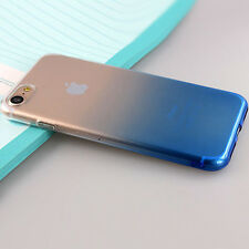 FOR Apple iPhone 7 BLUE Soft Silicone Protective TPU Gel Jelly Skin Cover Case B