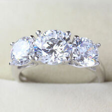 2.98 CT Off White Yellow Round Moissanite Engagement Ring 925 Silver Ring Nr0 9