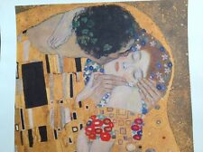 ART PRINT The Kiss (detail) by Gustav Klimt  12x13 1/4 Poster. Bought in Vienna.
