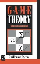 Game Theory by Guillermo Owen (1995, Hardcover, Revised)