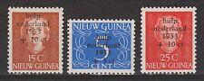 Indonesia Nederlands Nieuw Guinea New Guinea  22-24 MLH 1953 Waternoodszegels