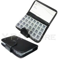 7 Days Pill Wallet Tablet Medicine Organiser Holder Dispenser Box Black Case