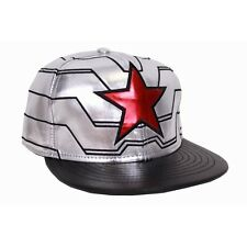 MARVEL'S CAPTAIN AMERICA - THE WINTER SOLDIER SILVER STAR SNAPBACK CAP HAT *NEW*