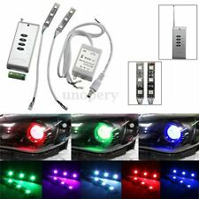 RGB 3 LED Strip Demon Eye/Devil Eye per Auto Headlight Projector Wireless Remote